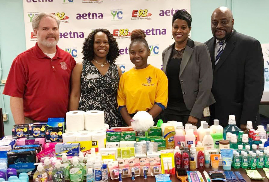 The Chatham County Youth Commission donated hundreds of toiletries and personal items for homeless adults and children to Chatham County Juvenile Court and Family Promise of Savannah.