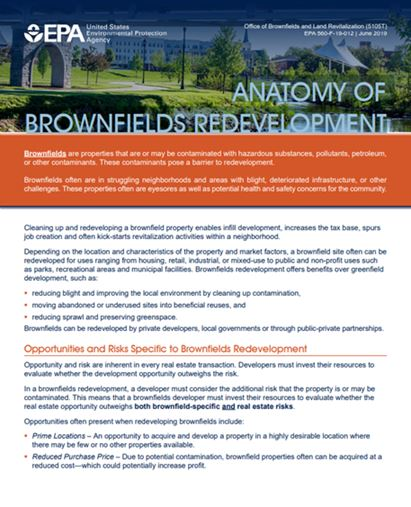 Anatomy of Brownfields Redevelopment